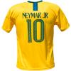 Brazilië thuis fan voetbalshirt Neymar achter
