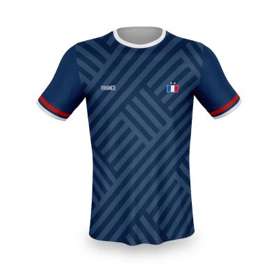 Frankrijk thuis fan voetbalshirt bedrukken '20