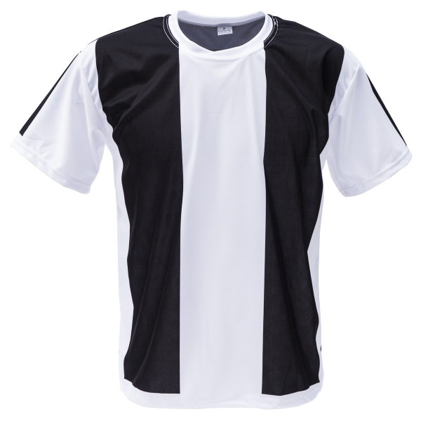 Voetbalshirt 'Zwart en wit' bedrukken voorkant