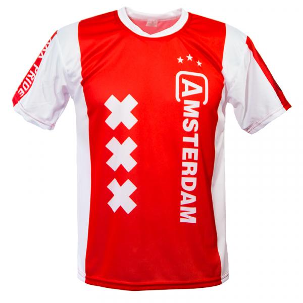 Amsterdam voetbalshirt thuis bedrukken voorkant