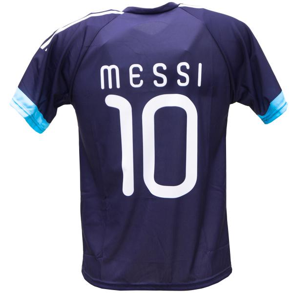 Argentinië uit fan voetbalshirt Messi achterkant