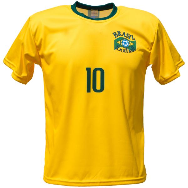 Brazilië thuis fan voetbalshirt Neymar voor