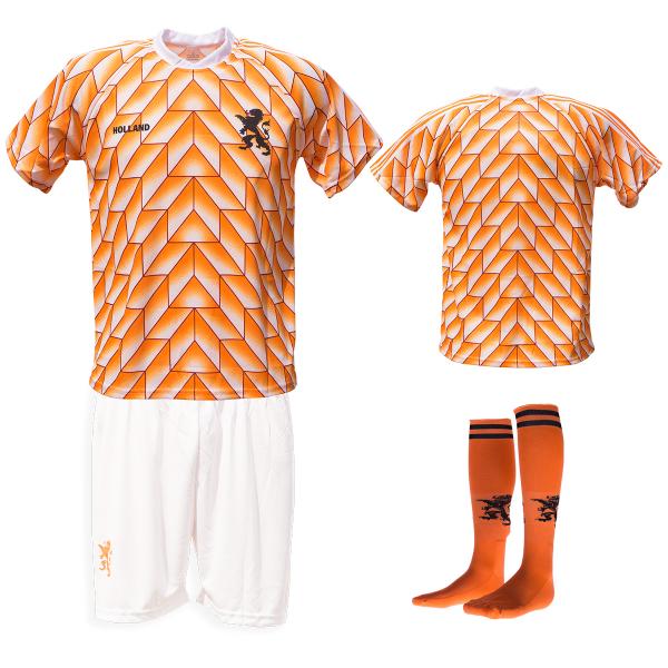 Nederland fan voetbaltenue Champions 1988 wit-oranje bedrukken