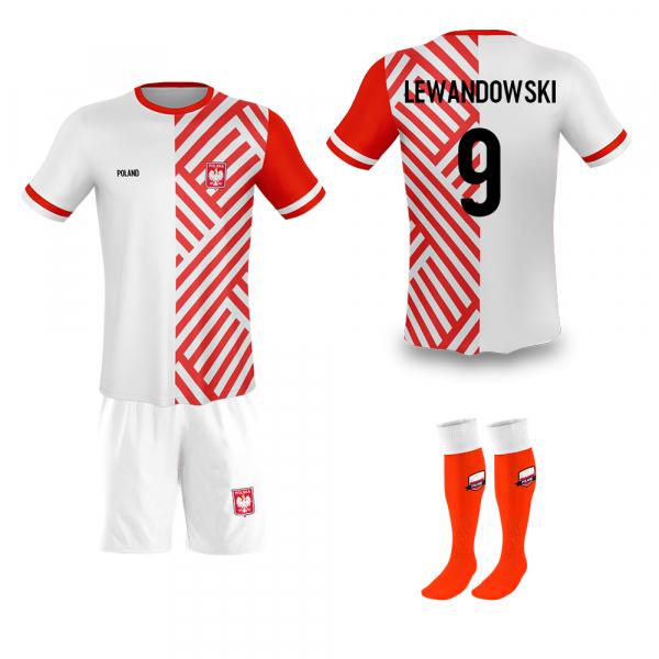 Polen thuis fan voetbaltenue Lewandowski '20