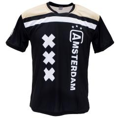 Voetbalshirt bedrukken 'Amsterdam uit'