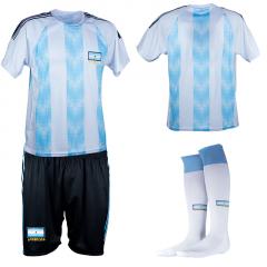 Argentinie thuis fan voetbaltenue bedrukken