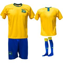 Brazilië thuis fan voetbaltenue bedrukken